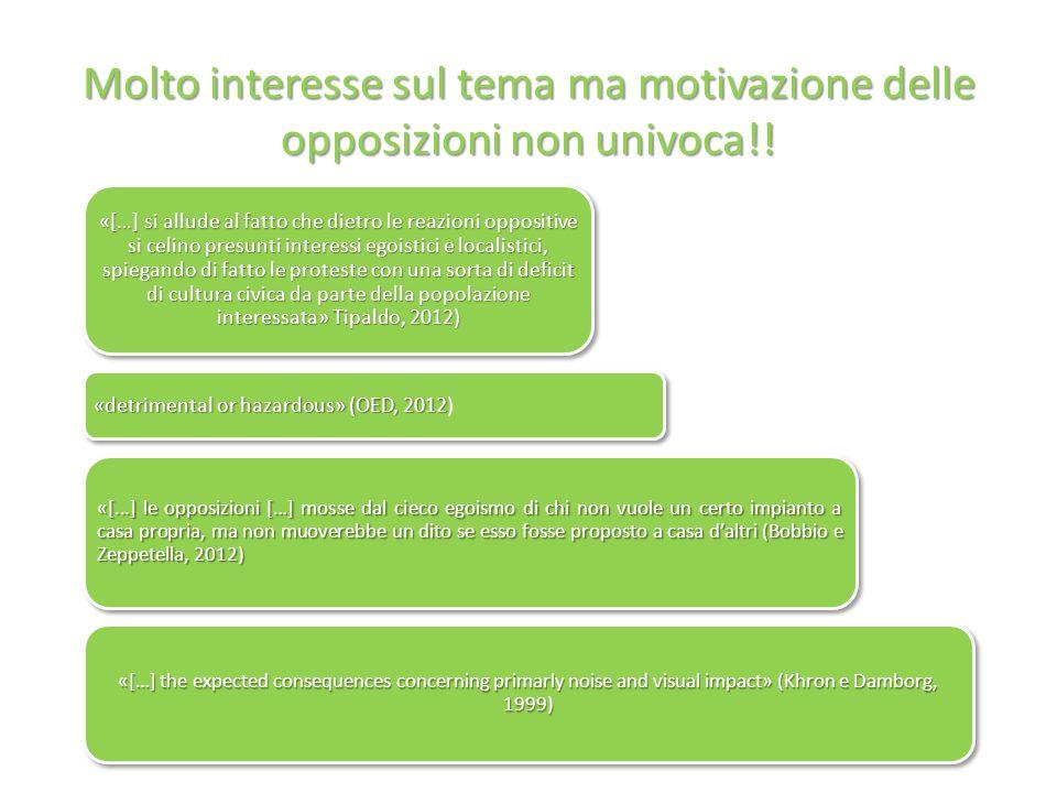 Molto interesse sul tema ma motivazione delle opposizioni non univoca!.