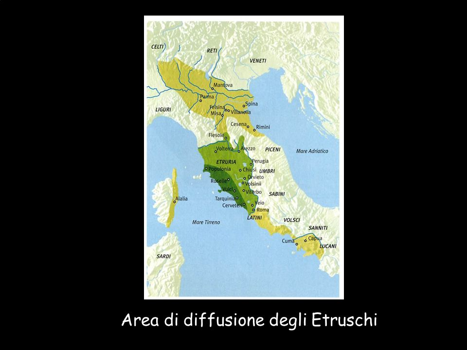 Maria Giulia Poggi Etruschi. Storia e civiltà9 Area di diffusione degli Etruschi