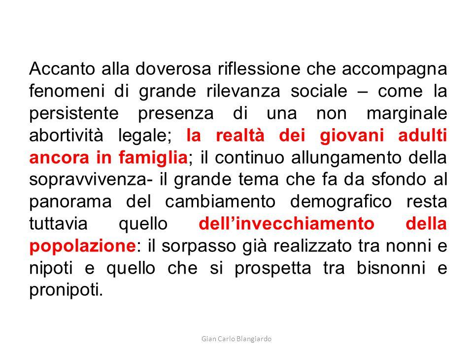 Gian Carlo Blangiardo Accanto alla doverosa riflessione che accompagna fenomeni di grande rilevanza sociale – come la persistente presenza di una non