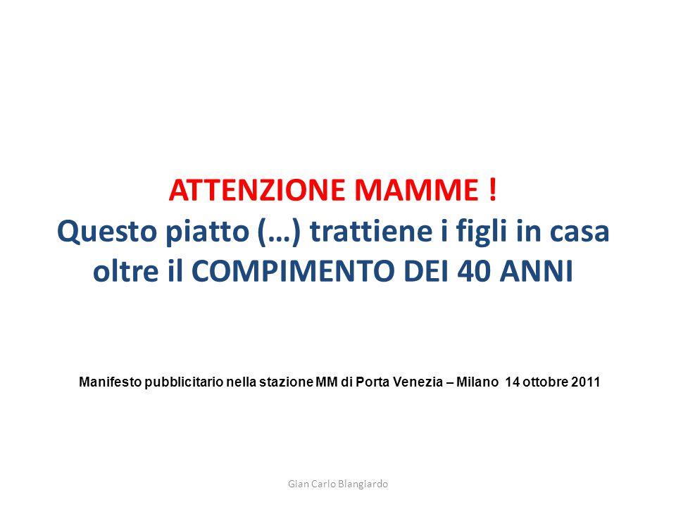 ATTENZIONE MAMME .