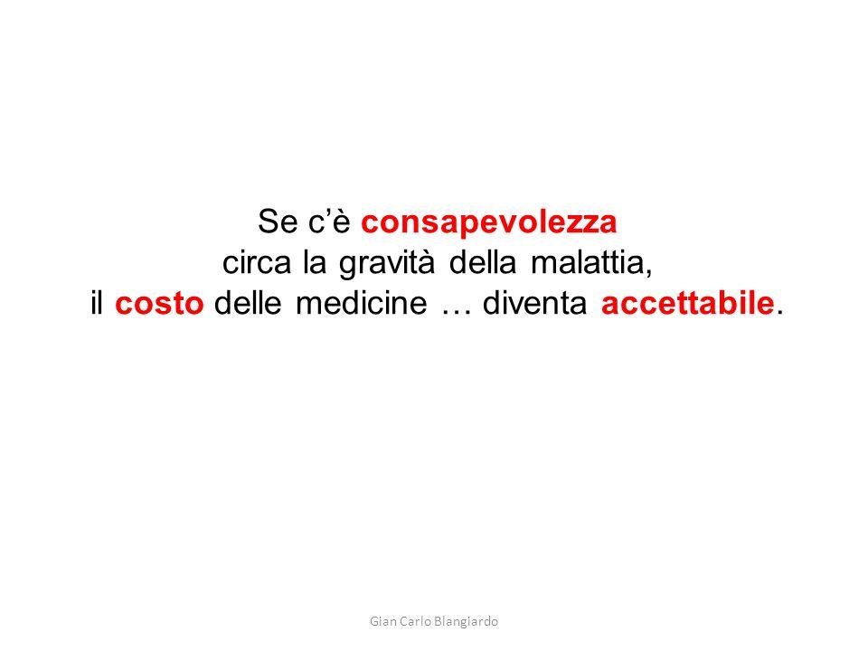 Se c'è consapevolezza circa la gravità della malattia, il costo delle medicine … diventa accettabile.