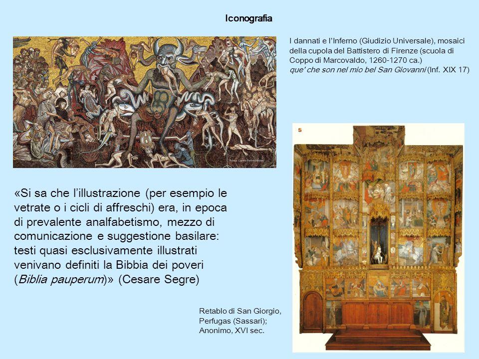 Iconografia I dannati e l'Inferno (Giudizio Universale), mosaici della cupola del Battistero di Firenze (scuola di Coppo di Marcovaldo, 1260-1270 ca.) que che son nel mio bel San Giovanni (Inf.
