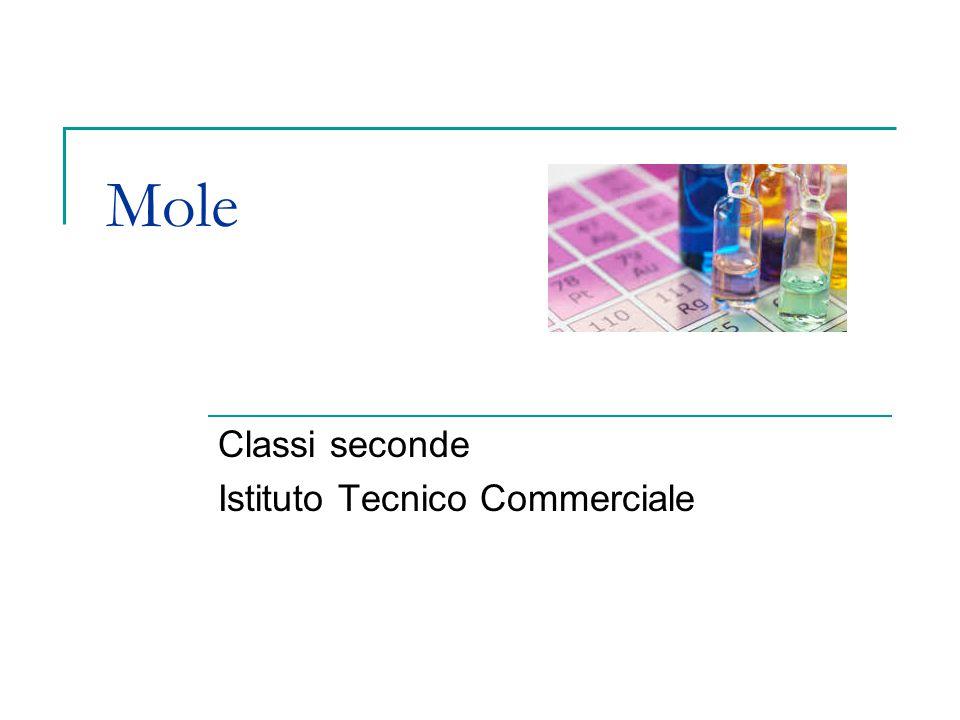 Mole Classi seconde Istituto Tecnico Commerciale