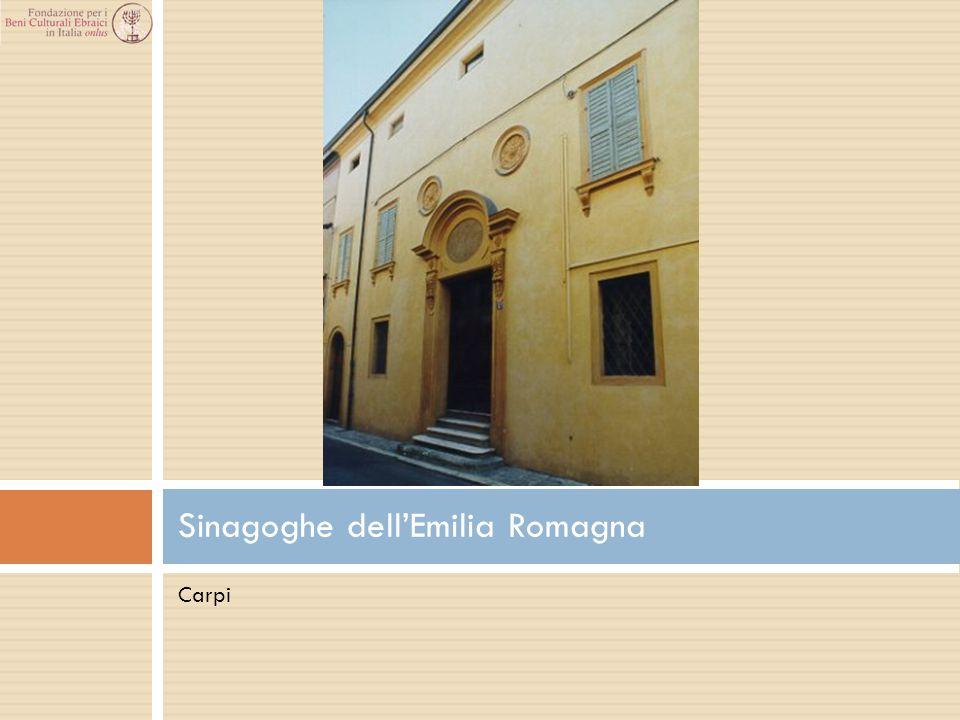 Carpi Sinagoghe dell'Emilia Romagna