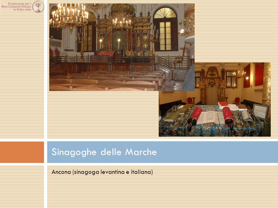 Ancona (sinagoga levantina e italiana) Sinagoghe delle Marche