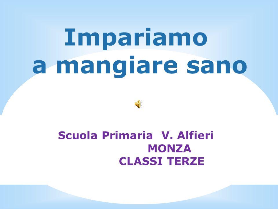 Impariamo a mangiare sano Scuola Primaria V. Alfieri MONZA CLASSI TERZE