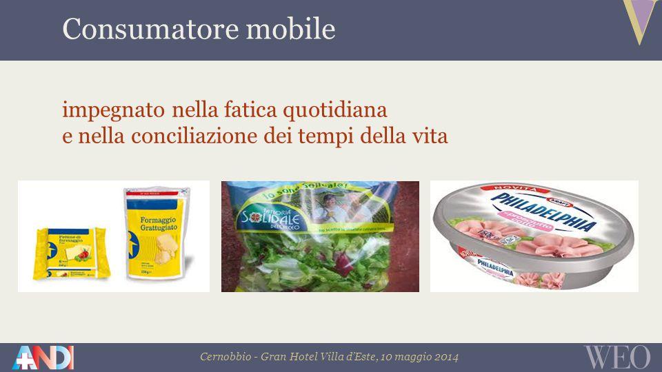 Cernobbio - Gran Hotel Villa d'Este, 10 maggio 2014 Consumatore mobile impegnato nella fatica quotidiana e nella conciliazione dei tempi della vita