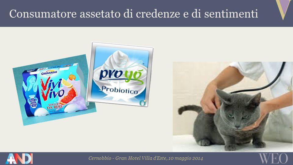 Cernobbio - Gran Hotel Villa d'Este, 10 maggio 2014 Consumatore assetato di credenze e di sentimenti