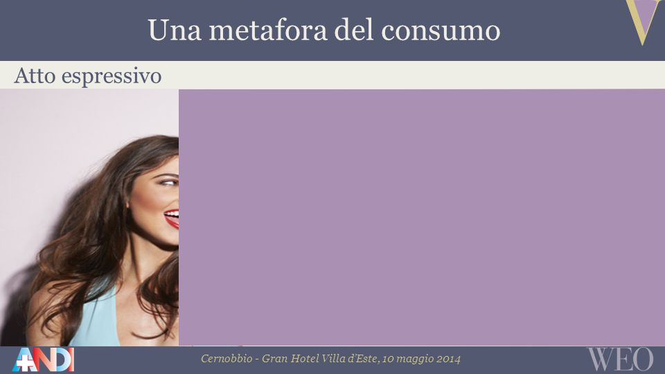 Cernobbio - Gran Hotel Villa d'Este, 10 maggio 2014 Atto espressivo Una metafora del consumo