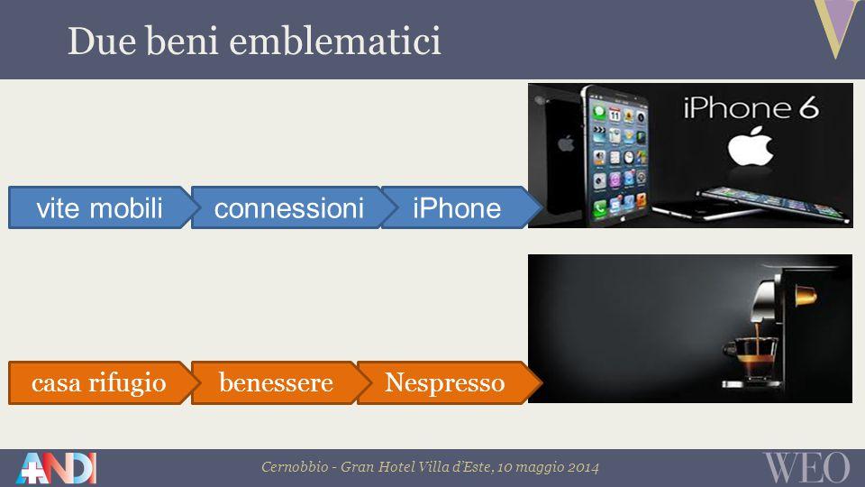 Cernobbio - Gran Hotel Villa d'Este, 10 maggio 2014 Due beni emblematici iPhoneconnessionivite mobili Nespressobenesserecasa rifugio