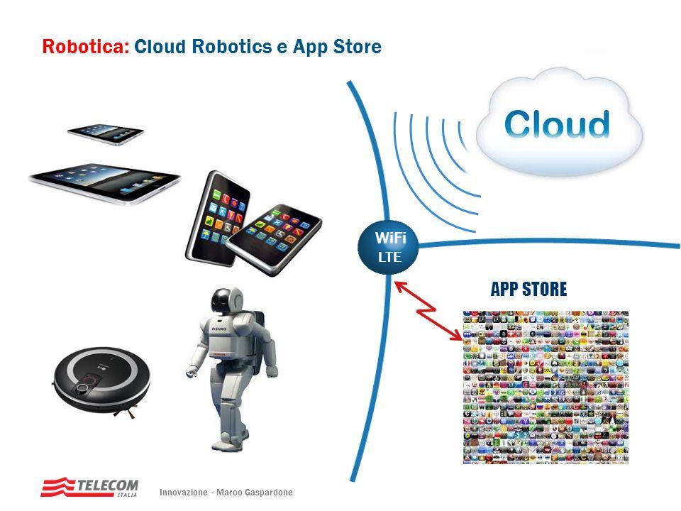Robotica: Cloud Robotics e App Store WiFi Ethernet/USB APP STORE WiFi LTE Applications Database Innovazione - Marco Gaspardone