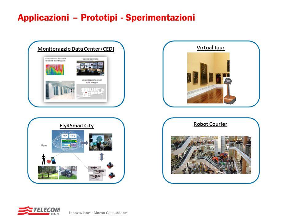 Applicazioni – Prototipi - Sperimentazioni Monitoraggio Data Center (CED) Innovazione - Marco Gaspardone Virtual Tour Fly4SmartCity Robot Courier