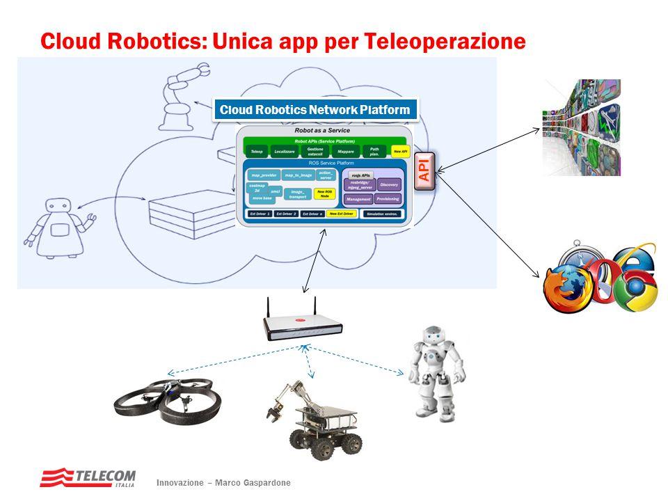 Cloud Robotics: Unica app per Teleoperazione Innovazione – Marco Gaspardone API Cloud Robotics Network Platform