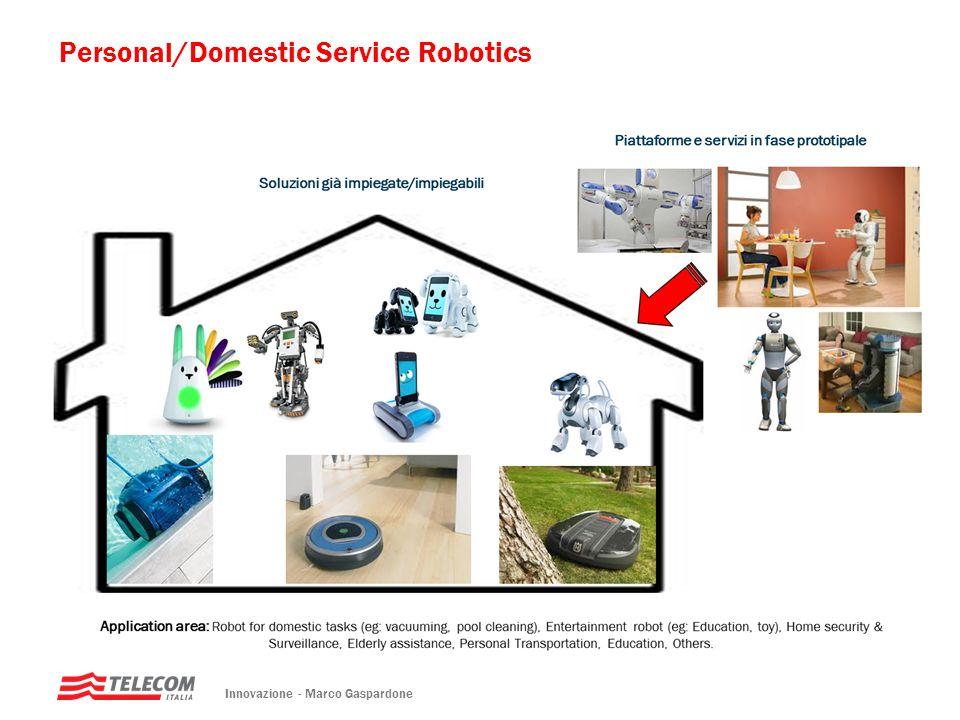 Innovazione - Marco Gaspardone Personal/Domestic Service Robotics