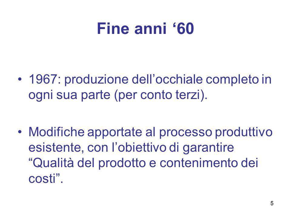 Sistema competitivo italiano Safilo Persol Lozza Metalflex EMERGENTE Luxottica di Del Vecchio & C.