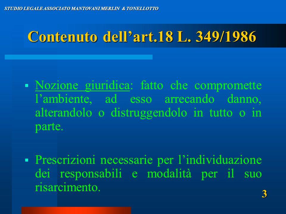 Contenuto dell'art.18 L.