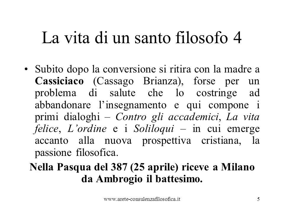 Piccola analisi Di fronte a questo esempio, in una disputa pubblica, rimarremmo certamente senza parole…(Agostino infatti vinceva nelle dispute pubbliche).