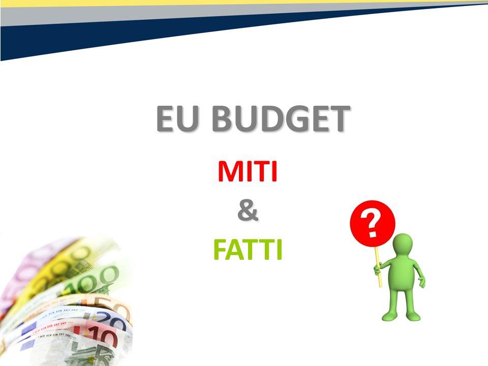 MITI& FATTI EU BUDGET EU BUDGET