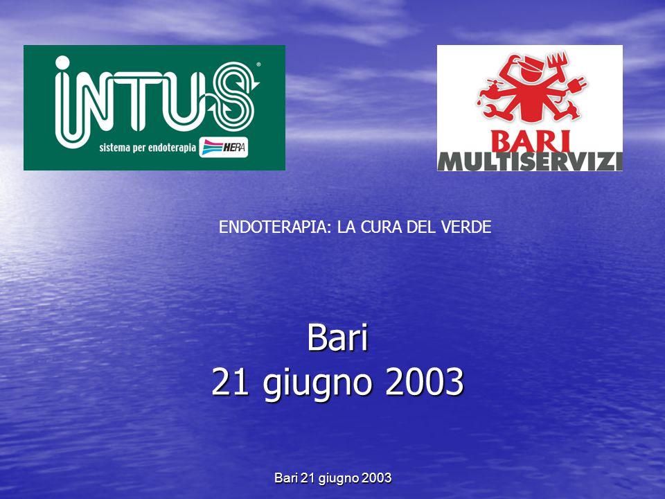 Bari 21 giugno 2003 Risultati tecnico commerciali 2001-2002