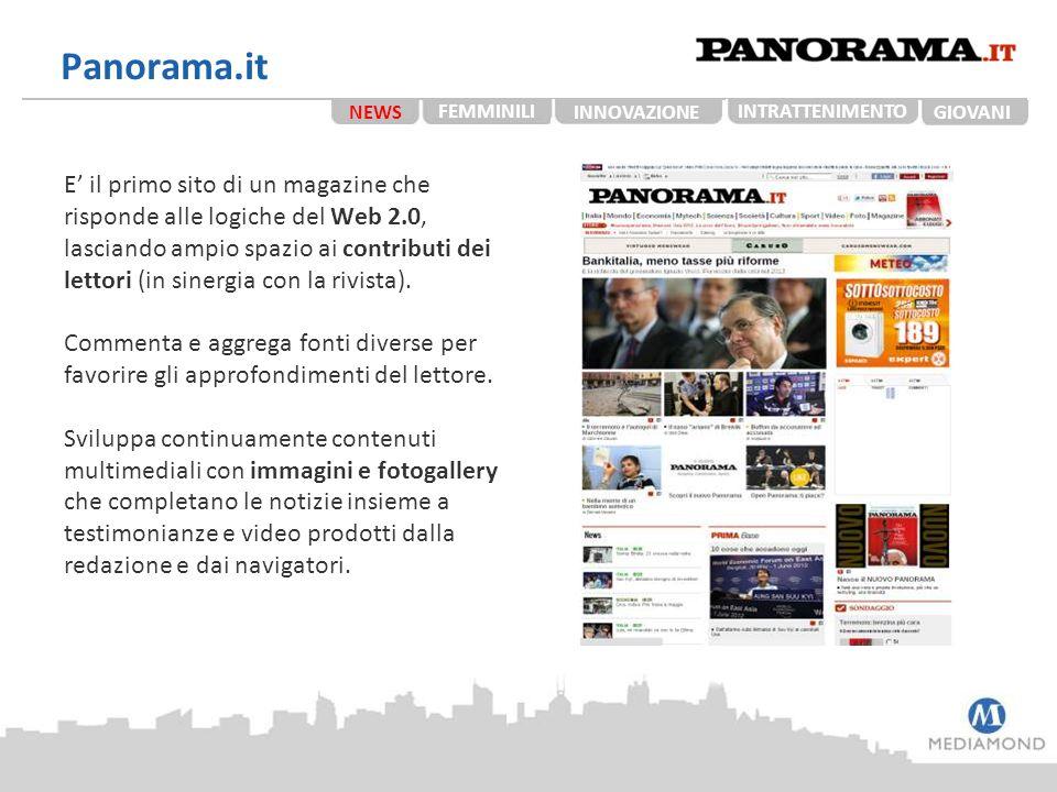 Panorama.it E' il primo sito di un magazine che risponde alle logiche del Web 2.0, lasciando ampio spazio ai contributi dei lettori (in sinergia con l