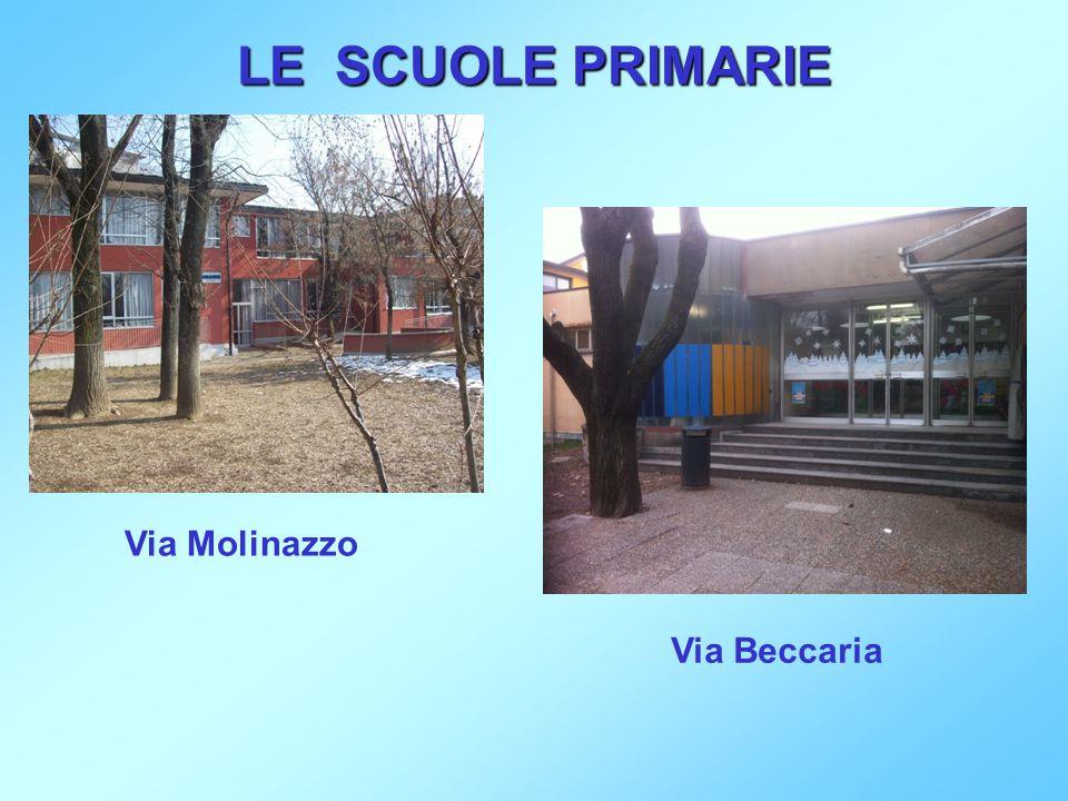 LE SCUOLE PRIMARIE Via Molinazzo Via Beccaria