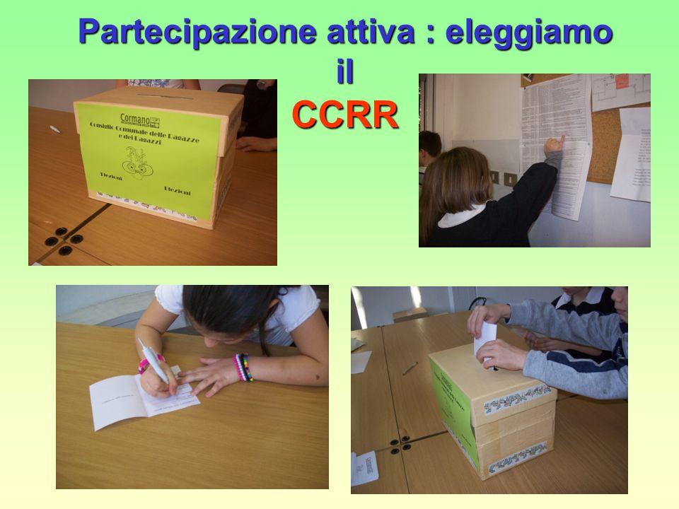 Partecipazione attiva : eleggiamo il CCRR