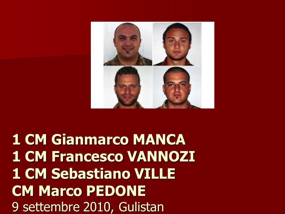 1 CM Gianmarco MANCA 1 CM Francesco VANNOZI 1 CM Sebastiano VILLE CM Marco PEDONE 9 settembre 2010, Gulistan