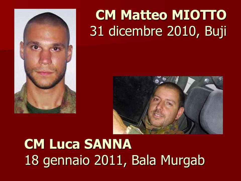 CM Luca SANNA 18 gennaio 2011, Bala Murgab CM Matteo MIOTTO 31 dicembre 2010, Buji