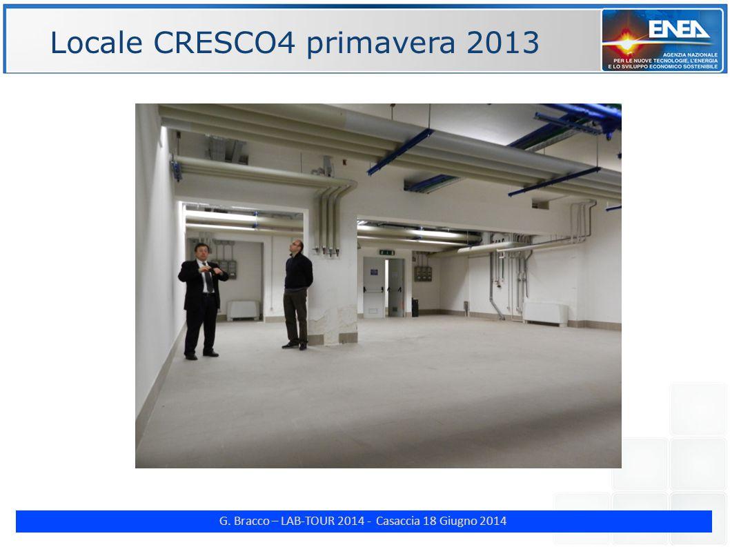 G. Bracco – LAB-TOUR 2014 - Casaccia 18 Giugno 2014 ENE Locale CRESCO4 primavera 2013