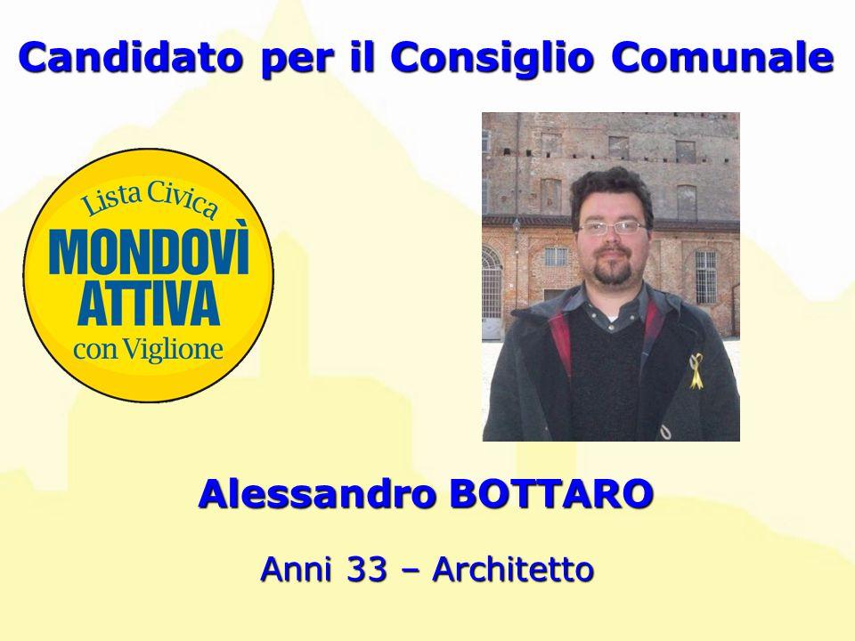 Alessandro BOTTARO Candidato per il Consiglio Comunale Anni 33 – Architetto
