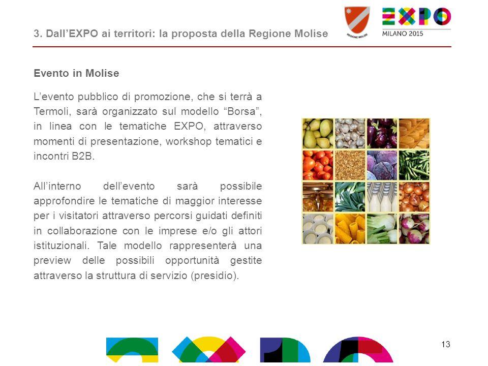 """Evento in Molise L'evento pubblico di promozione, che si terrà a Termoli, sarà organizzato sul modello """"Borsa"""", in linea con le tematiche EXPO, attrav"""