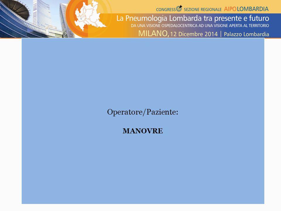 Adattiamoci alle differenze di genere Operatore/Paziente: MANOVRE