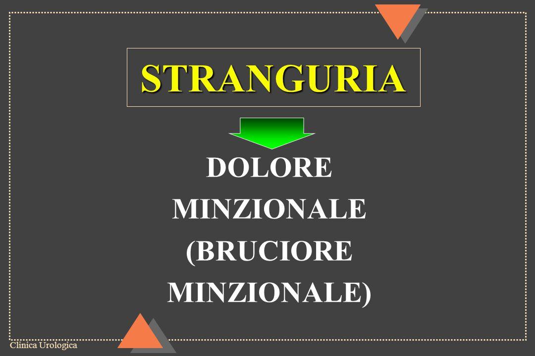 Clinica Urologica STRANGURIA DOLORE MINZIONALE (BRUCIORE MINZIONALE)