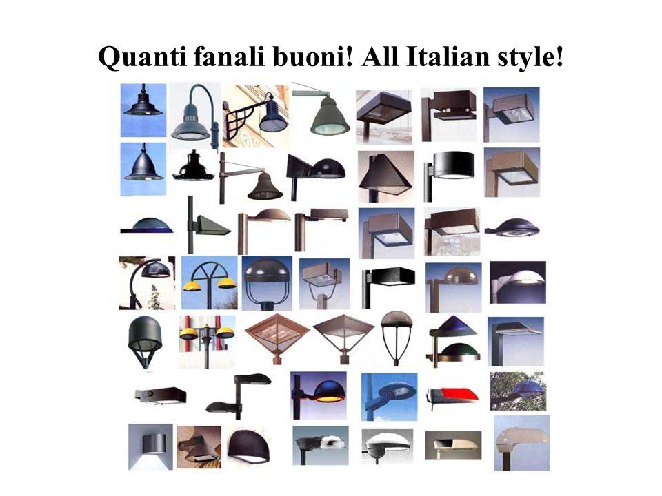 Quanti fanali buoni! All Italian style!