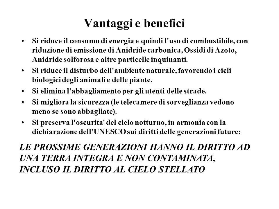 Vantaggi e benefici Si riduce il consumo di energia e quindi l uso di combustibile, con riduzione di emissione di Anidride carbonica, Ossidi di Azoto, Anidride solforosa e altre particelle inquinanti.