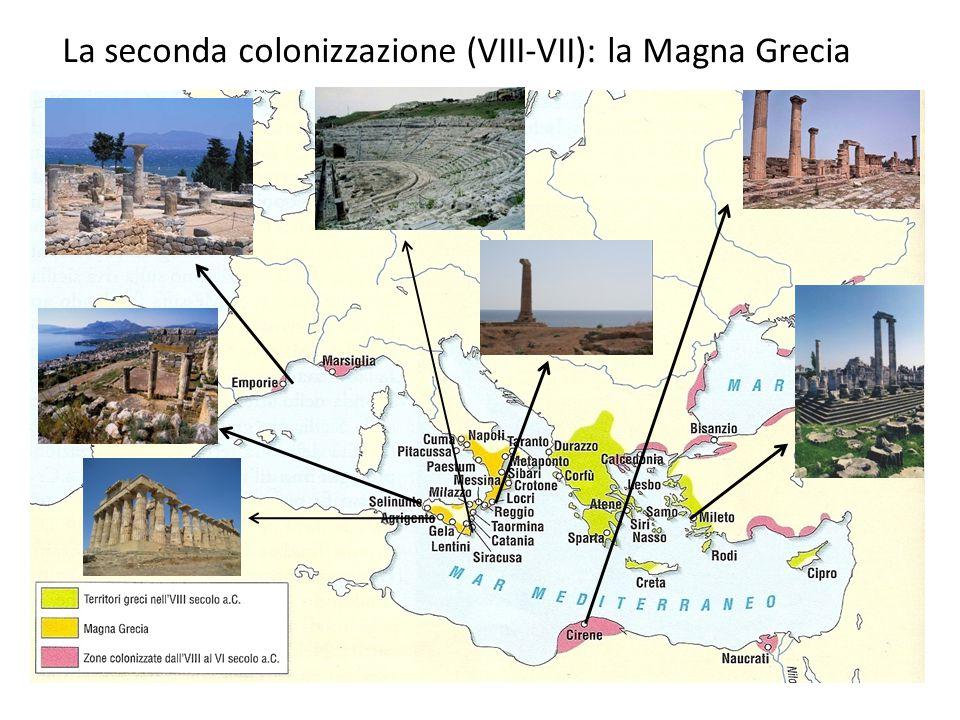 La seconda colonizzazione (VIII-VII): la Magna Grecia