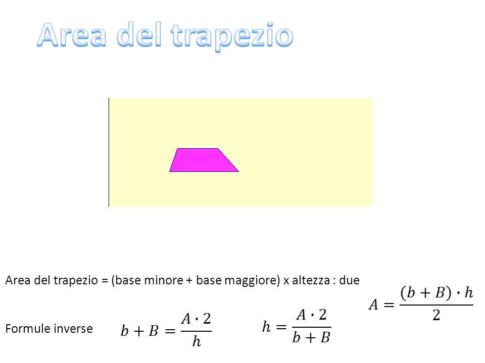 Il quadrato è un rombo, quindi la sua area si può calcolare con la formula Conoscendo l'area si può trovare la misura della diagonale Nel triangolo rettangolo base e altezza possono essere: - i due cateti, allora l'area si calcola: - l'ipotenusa e la sua altezza relativa, allora l'area si calcola: d C c i hi Il rombo è un parallelogramma quindi la sua area si può calcolare con la formula h l