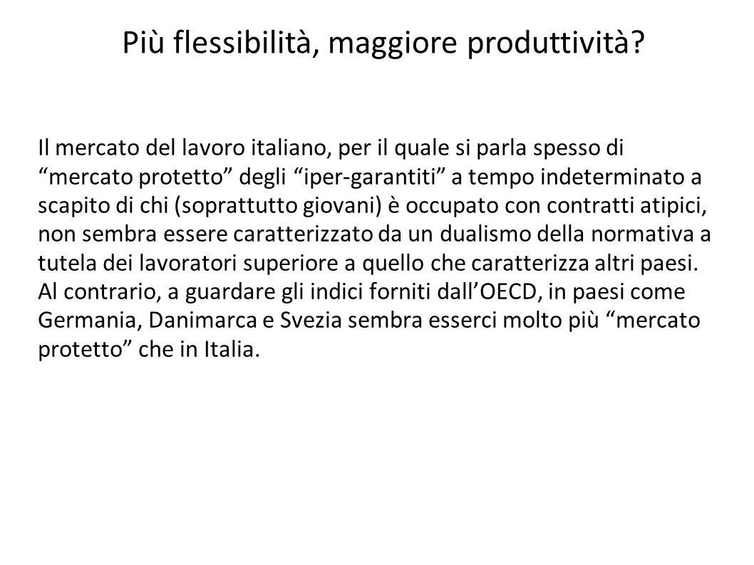 """Il mercato del lavoro italiano, per il quale si parla spesso di """"mercato protetto"""" degli """"iper-garantiti"""" a tempo indeterminato a scapito di chi (sopr"""
