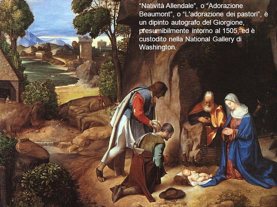 """""""Natività Allendale"""", o """"Adorazione Beaumont"""", o """"L'adorazione dei pastori"""", è un dipinto autografo del Giorgione, presumibilmente intorno al 1505, ed"""