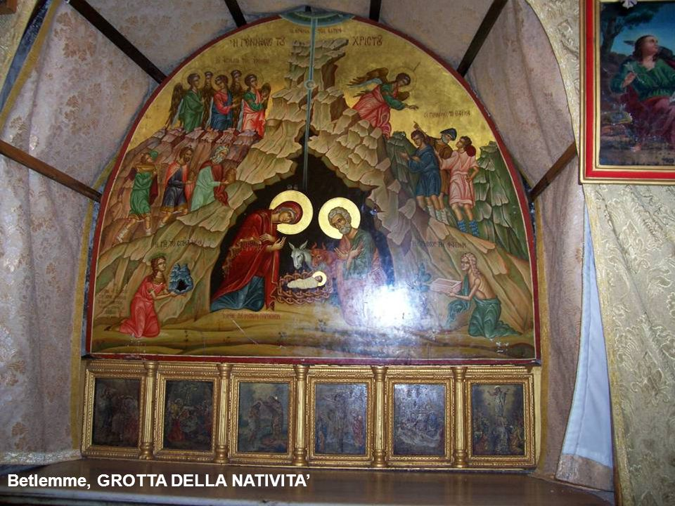 Betlemme, GROTTA DELLA NATIVITA', luogo della nascita di Gesù