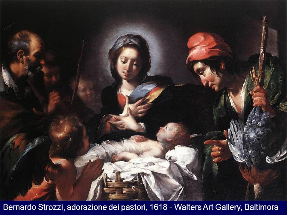 Bernardo Strozzi, adorazione dei pastori, 1618 - Walters Art Gallery, Baltimora