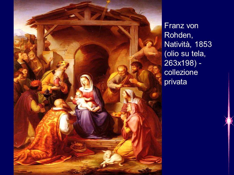 Franz von Rohden, Natività, 1853 (olio su tela, 263x198) - collezione privata