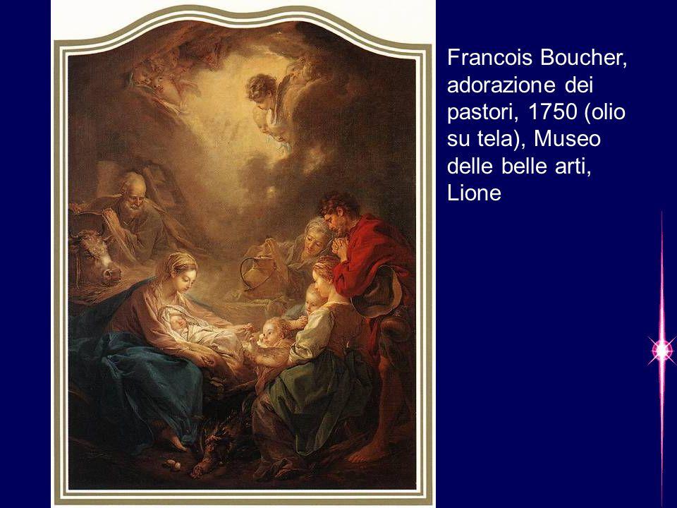 Francois Boucher, adorazione dei pastori, 1750 (olio su tela), Museo delle belle arti, Lione