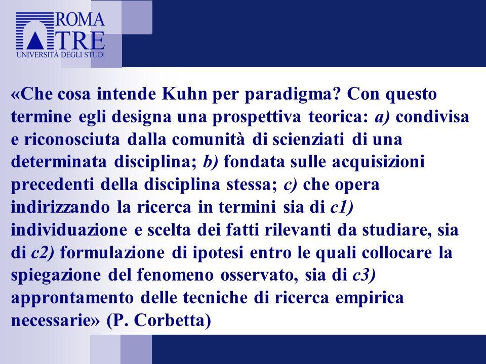 «Che cosa intende Kuhn per paradigma.