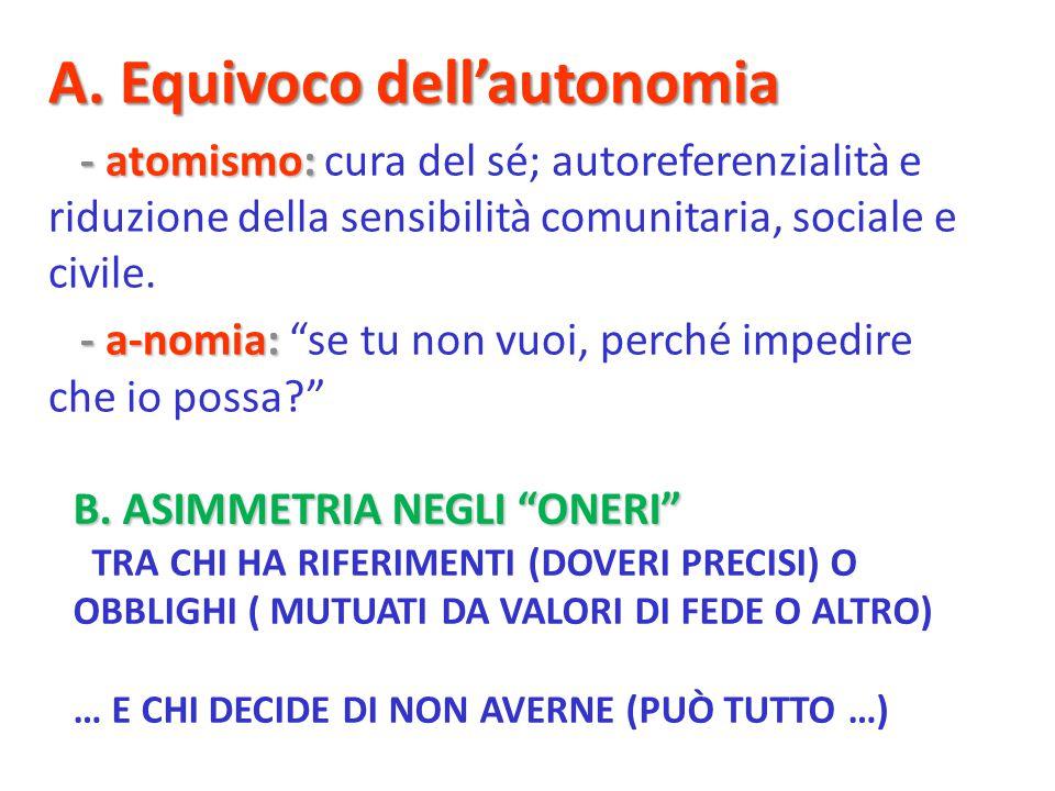 B. ASIMMETRIA NEGLI ONERI B.