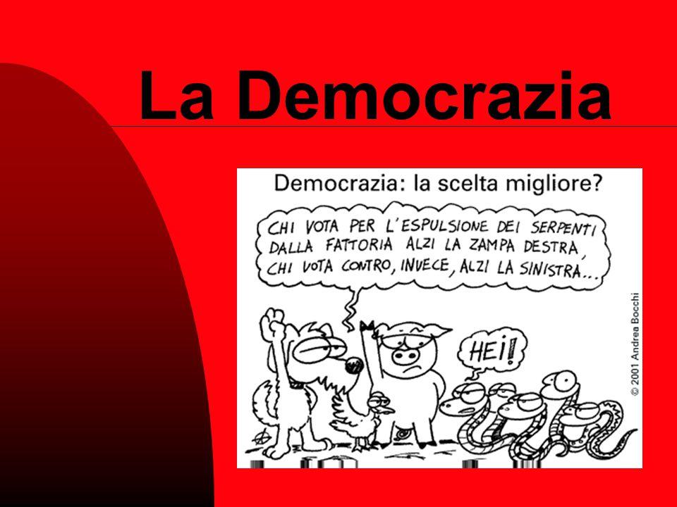 Realtà vigenti in altri paesi L'Italia DDemocrazia rappresentativa Gli Stati Uniti d'America DDemocrazia presidenziale L'Arabia Saudita MMonarchia assoluta L'Inghilterra MMonarchia costituzionale