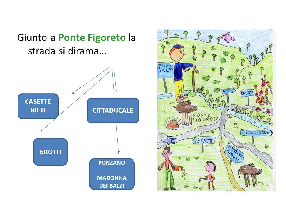 Giunto a Ponte Figoreto la strada si dirama… CASETTE RIETI CITTADUCALE GROTTI PONZANO MADONNA DEI BALZI