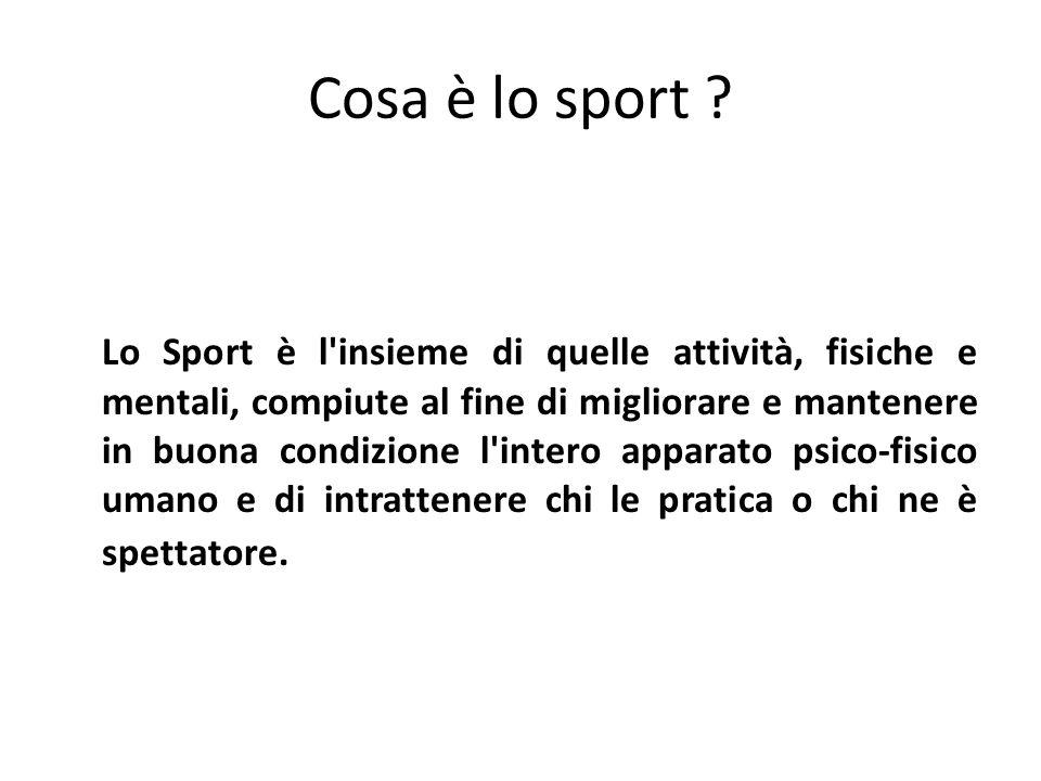 Cosa è lo sport .