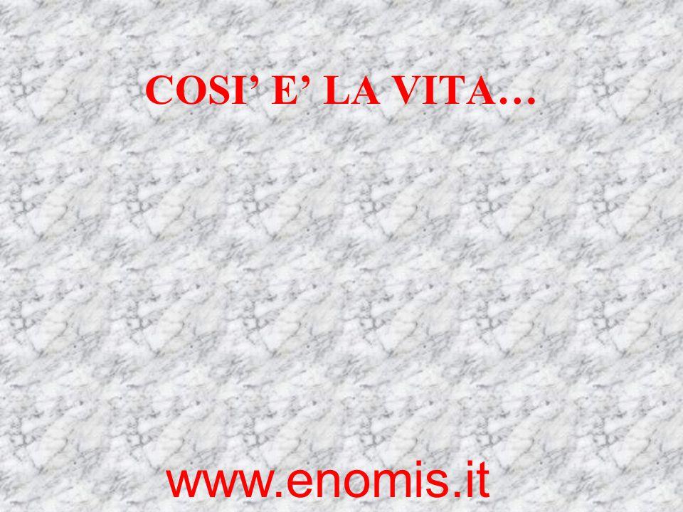 COSI' E' LA VITA… www.enomis.it
