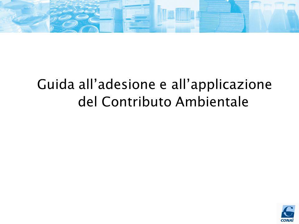 Guida all'adesione e all'applicazione del Contributo Ambientale